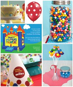 Fun ideas to help you have the perfect bounce house party! Bounce House Birthday, Bounce House Parties, Ball Birthday, Carnival Birthday, 4th Birthday Parties, Birthday Bash, House Party, Birthday Ideas, Bubble Gum Party