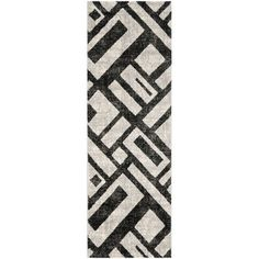 @Overstock - A sophisticated contemporary design and dense, thick pile highlight this power-loomed rug. This rug combines great styling and comfort with a durable powerloomed construction making this ultra low shedding rug easy to maintain.http://www.overstock.com/Home-Garden/Safavieh-Porcello-Black-Rug-24-x-67/7655505/product.html?CID=214117 $73.99