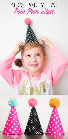 Kids' Party Hat Pom Pom Style