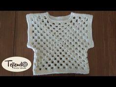 Chaleco a ganchillo para bebé o niñ@. !! Fácil de tejer en todas las tallas!! - YouTube