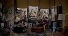 One of my favorite film interiors is the San Francisco apartment of Midge, a character in Alfred Hitchcock's Vertigo (1958)