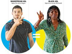 Black and White Vernacular in American Sign Language (click thru for analysis) @Wizard at Work thought you might like to read this
