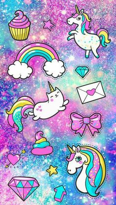 40 ideas for birthday wallpaper iphone cute Unicornios Wallpaper, New Wallpaper Iphone, Cute Wallpaper For Phone, Cute Wallpaper Backgrounds, Pretty Wallpapers, Galaxy Wallpaper, Unicorn Wallpaper Cute, Cute Girl Wallpaper, Kawaii Wallpaper