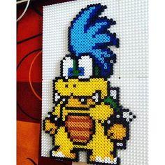 Larry Koopa - Mario hama beads by dreamyjonboy: