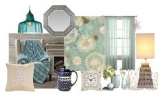 """""""Winter decor"""" by memyselfeye ❤ liked on Polyvore featuring interior, interiors, interior design, home, home decor, interior decorating, Comfort Classics, Polish Pottery, Universal Lighting and Decor and Williams-Sonoma"""