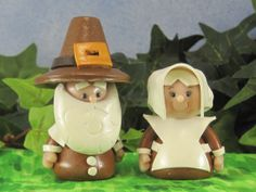 Pilgrim Gnomes for Fairy Gardens OOAK by WeeBrigadoon on Etsy, $22.00