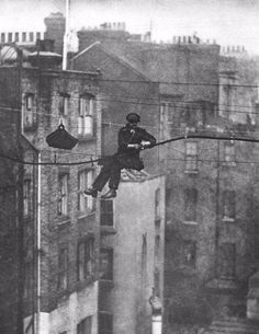Telephone engineer in London, 1925.