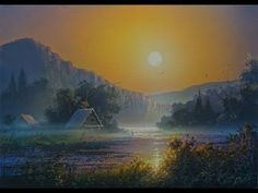 """Sunrise at the river"" X / A. Artist Yushkevich Victor N. Acrylic Painting Tutorials, Painting Techniques, Romance Art, Art Tutorials, Art Lessons, Landscape Paintings, Northern Lights, Sunrise, Drawings"