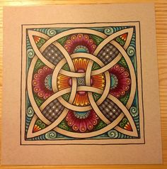 Zentangled Celtic Knot   GwennieJo - part of my Scots-Irish heritage...love it!!!