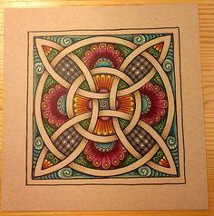 Zentangled Celtic Knot | GwennieJo - part of my Scots-Irish heritage...love it!!!
