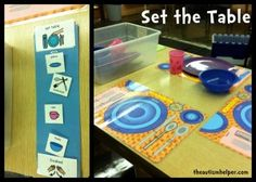 Setting the Table Work Task {with a visual schedule and placements with visual cues}