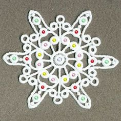 FSL Crystal Snowflakes 2, 9 - 4x4 | What's New | Machine Embroidery Designs | SWAKembroidery.com Ace Points Embroidery