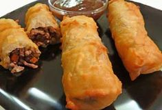 Gluten Free Lumpia and Dipping Sauce