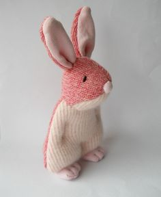 Treacher Creatures sock and crochet animals | plush rabbit | made from up-cycled wool sweaters