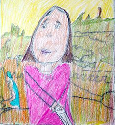 Third Grade Art Lesson 23 | Looking at da Vinci Part 2 Coloring In Our Mona Lisa Portrait