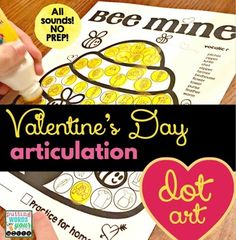 Dot art is fun for all ages and a great way to immediately reinforce correct sound productions in speech therapy. After therapy, send the masterpiece home for more practice!