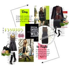 """Day To Night Styling Tips - One Sequin Dress / 2 Occasions"" by gench on Polyvore"