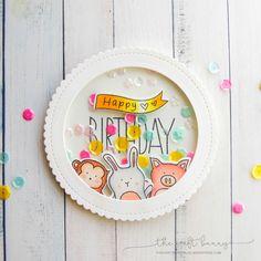 happy birthday   THE CRAFT BUNNY   SSS BABY ANIMAL SHAKER CIRCLE BLOG AMY