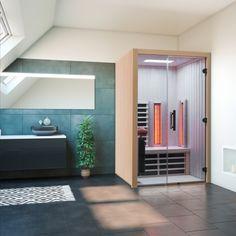 Infrarotkabine in Espe Garage Doors, Spa, Outdoor Decor, Design, Home Decor, Infrared Heater, Home Gym Room, Bathing, Basement