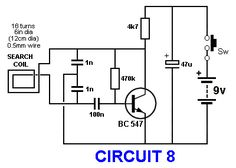BASIC CIRCUITRY of Metal Detection Electronic Circuit Projects, Electronic Engineering, Electronics Projects, Metal Detektor, Metal Detector Reviews, Whites Metal Detectors, Gold Detector, Electronic Schematics, Electronic Shop