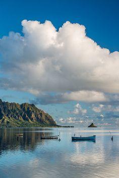 early morning, Kaneohe Bay, Hawaii