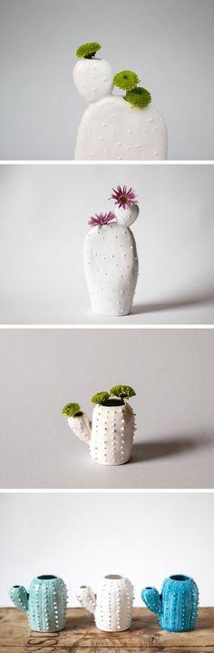 Ceramic cacti | cactus planters | ceramic planters | white ceramics