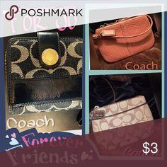 Bundle For Josephine Coach wallet, 2 wristlets. Other