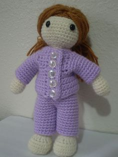 Ravelry: Amigurumi Playtime Sally Doll w/ Clothes pattern by Chassity Oquendo