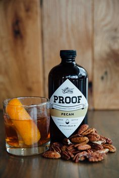 PROOF Pecan Old Fashioned Cocktail Syrup is made by taking fresh,  oven-roasted Georgia pecans and infusing them into cocktail bitters. We  then combine that with our unique blend of lemon and orange oleo  saccharums. The result is a delicious, smooth, and nutty cocktail that you  can enjoy at home.  Each bottle makes 32 Cocktails  Ingredients: Ingredients: Water, Oleo Saccharum (Cane Sugar, Lemon Oil,  Orange Oil), Pecan Tincture, Salt     Orders typically ship in 4-6 days.