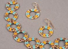 half tila bracelet and earrings featured image- includes directions on how to make pattern