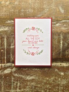 Wishing You Joy Christmas Card  Set of 6 by PetalandPaperie, $10.00