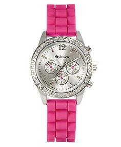 Style Watch, Women's Pink Silicone Strap SC1202 - All Watches - Jewelry & Watches - Macy's