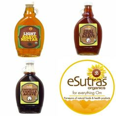 Agave is the perfect sweetening option for those concerned with sugar in their diet or with cutting empty carbohydrates!  #esutras_organics #agave #sweetners #healthy   Available at http://esutras.com/19-sugars-sweeteners-organic-low-glycemic-