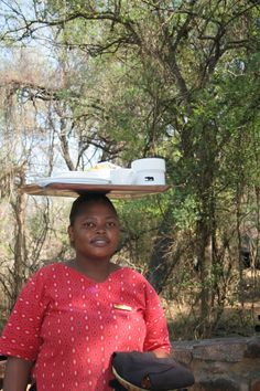 Watch the ladies take away your plates on their heads. Game Reserve, Under The Stars, Panama Hat, Beautiful Places, Plates, Stone, Watch, Lady, Beauty