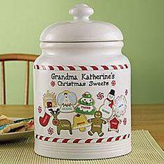 Personalized Porcelain Cookie Jar