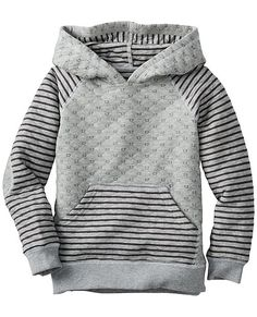 A pullover hoodie that's too cool to take off. Crafted from quiltie knit with extra-cozy comfort that plays on and on. <br>• Cotton/polyester quiltie knit<br>• Front kangaroo pocket<br>• Elbow patches<br>• Prewashed<br>• Imported