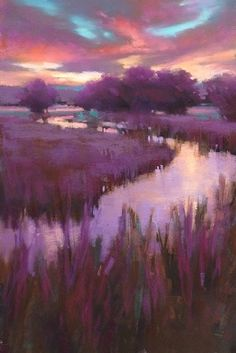 "Purple Haze by Teresa Saia Pastel ~ 18"" x 12"". This piece represents texture fairly well because it seems as though it would feel rough when touched."