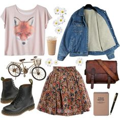 Una falda bohemia, botines, una playera y tu satchel resultan ideales para este verano, busca más looks fantásticos en http://www.1001consejos.com/moda