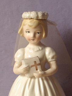 Vintage 1960's Schmid First Communion figurine by ShoponSherman,