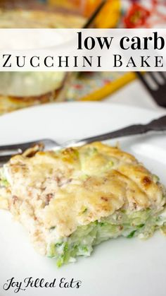 Bacon & Swiss Zucchini Bake - Low Carb, Low Fat, cGluten-Free, THM FP - Zucchini bake with bacon is a great recipe for using up your zucchini from your garden! Six simple ingredients are all you need for my zucchini bake recipe. Low Sugar Recipes, Low Carb Dinner Recipes, Ketogenic Recipes, Low Carb Recipes, Breakfast Recipes, Cooking Recipes, Keto Dinner, Diabetic Side Dishes, Low Carb Side Dishes