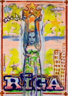 "Saatchi Art Artist Borai Kahne Ateliers; Painting, ""European Capital Cities - Riga"" #art"