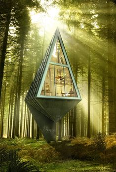 Rural Urbanism: Forest Community of One-Pole Tree Houses ~ Konrad Wójcik of Aalborg, Denmark has modeled his design on the shape and functions of trees.