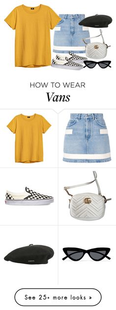 """Sem título #1637"" by oh-its-anna on Polyvore featuring Givenchy, Vans, Gucci, Le Specs and kangol"