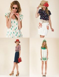 Wish I could sew these dresses! Love them!