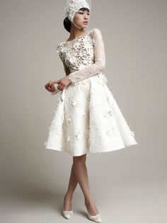 Top Wedding Dress Trends of 2014 Chic and Short - Yolan Cris 2014 Collection http://chicvintagebrides.com/index.php/wedding-dresses/top-10-wedding-dress-trends-2014/
