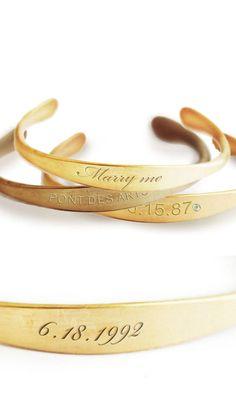 Engraved cuffs