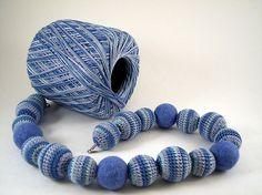 Handmade crocheted jewelry by jujafelt, via Flickr
