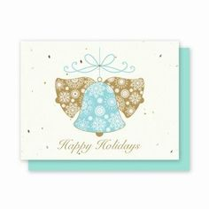 Holiday Bells Plantable Greeting Cards - 25 Pack