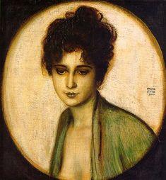 Franz von Stuck. Portrait of Frau Feez (1900). Münchner Sezession