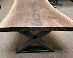 """Modern Coffee Table """"X"""" Legs, Model # BX02, Side Table Legs, Industrial, Metal tubing Legs, Set of 2 Legs"""